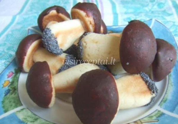 пирожное грибочки рецепт с фото