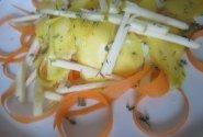 Morkų, obuolių ir mango salotytės