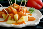 Keptos bulvės ispaniškai (Patatas Bravas)