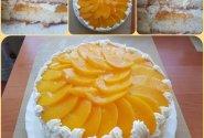 Tortas su konservuotais persikais
