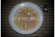 Aštri, saldžiarūgštė baltųjų kiniškų grybų sriuba su vištiena