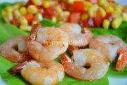 Krevetės su pomidorais