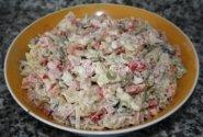 Greitai paruošiamos makaronų salotos