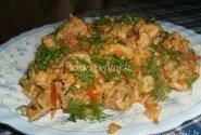 Kiauliena troškinta su ryžiais ir pomidorais