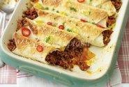 Vištienos Enchiladas su padažu Mole