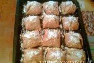 Sluoksniuotos tešlos pyragėliai su obuoliais