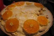 Apelsinų ir rūkytos vištos mišrainė
