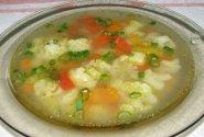 Daržovių sriuba su žiediniais kopūstais
