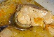 Troškinta vėgėlė su grybais ir agurkais