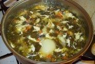 Rugštynių sriuba su vištienos sparneliais