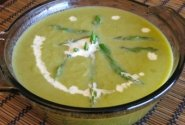 Dietinė šparagų sriuba