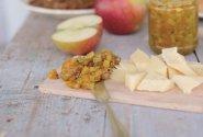 Verdame obuolių ir cukinijų pagardą arba chutney