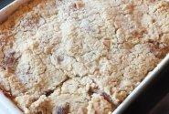 Trupininis pyragas su varške ir obuoliais
