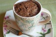 Šokoladinis pyragas puodelyje