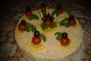 Tuno - lašišos užkandinis tortas