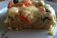 Maltos vištienos apkepėlė su daržovėmis ir sūriu