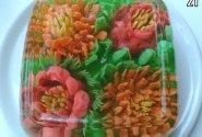 3D gėlės želėje