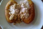 Bulviniai blynai iš bulvių košės su faršu