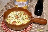 Bulvių ir kamambero apkepas