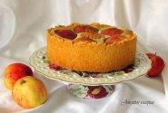 Obuolių pyragas su varške ir aguonomis