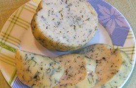Naminis lydytas sūris su krapais