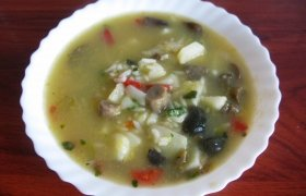 Šaldytų grybų sriuba