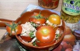 Duona įdaryti pomidorai