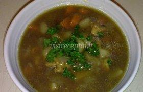 Tiršta mėsos sriuba su daržovėmis