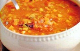 Pupelių sriuba su sūriu