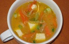 Tofu sriuba su daržovėmis