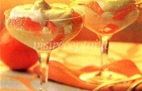 Varškės kremas su apelsinais