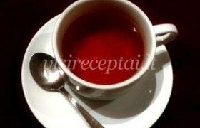 Juoda arbata su citrina ir mėta