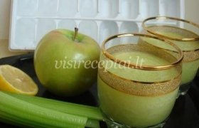Obuolių ir salierų gėrimas