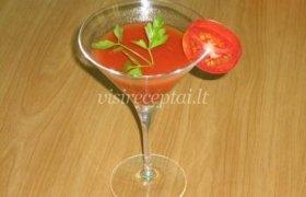 Pomidorų sultys su česnaku