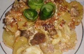 Cukinijų ir bulvių apkepas