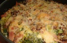 Brokolių ir kumpio užkepėlė