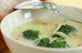 Baltoji brokolių sriuba
