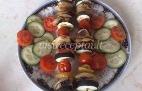 Mėsos ir daržovių vėrinukai