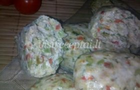 Vištienos kotletai su daržovėmis