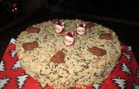 Burnoje tirpstantis kalėdinis tortas