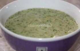 Pieniška brokolių sriuba