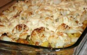 Žiedinių kopūstų, bulvių ir mėsos apkepas