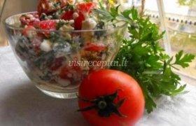 Salotos su varške ir pomidorais