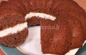 Šokoladinis keksas su kremu