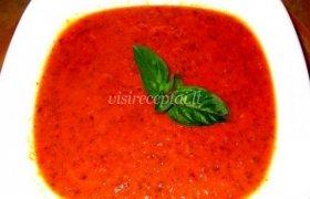 Šalta pomidorų ir baziliko sriuba