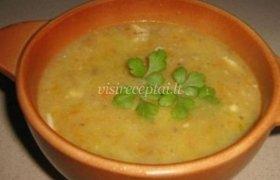 Grybų sriuba su sūriu