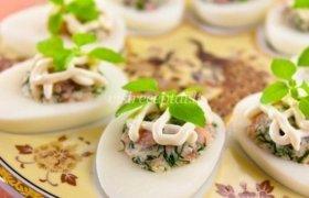 Lašiša įdaryti kiaušiniai