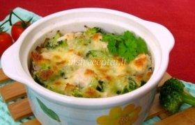 Vištienos ir brokolių apkepas