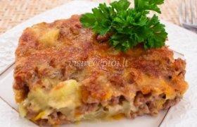 Cukinijos ir maltos mėsos apkepas