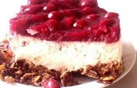 Maskarponės tortas su vyšniomis